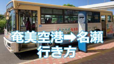 【2020】奄美空港から名瀬への行き方を解説!方法は3つ