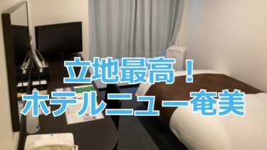 名瀬市内で立地最高!ホテルニュー奄美に泊まってみた 奄美空港から路線バスでも行きやすい